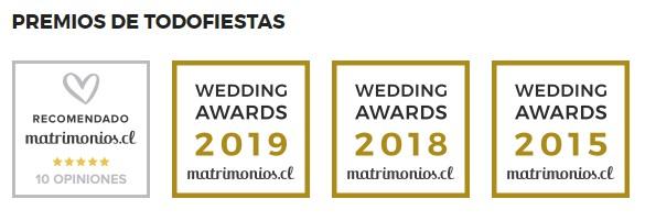 premios Somos premiados por Matrimonios.cl con el Wedding 2019